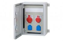 Szafa budowlana 300x400x170, 2x16A 5p, 2x230V, /12 modułów/