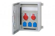 Szafa budowlana 300x400x170, 2x16A 5p, 3x230V, /12 modułów/