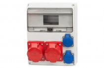 Rozdzielnica LAGO 16A 5p, 32A 5p, 2x230V /11 modułów/