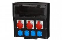 Rozdzielnica gumowa LIDO 18S, 3x16A 5p, 4x230V  /18 modułów/