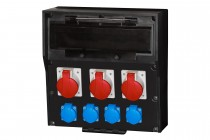 Rozdzielnica gumowa LIDO 18S, 2x16A 5p, 32A 5p, 4x230V  /18 modułów/