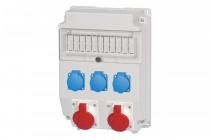 Rozdzielnia CAJA 2x32A 5p, 3x230V /11 modułów/