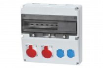 Rozdzielnica LAGO 16A 5p, 32A 5p, 2x230V  /17 modułów/