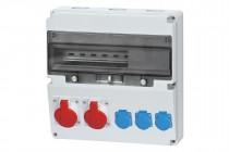 Rozdzielnica LAGO 16A 5p, 32A 5p, 3x230V  /17 modułów/