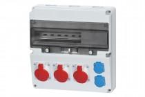 Rozdzielnica LAGO 16A 5p, 2x32A 5p, 2x230V  /17 modułów/