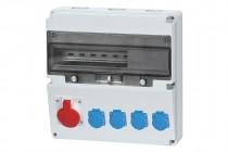 Rozdzielnica LAGO 16A 5p, 4x230V  /17 modułów/