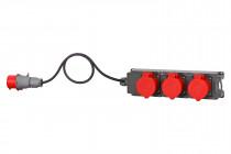 Rozdzielnia TRIBOX 3x32A 5p + OW 5x4mm2 - 3 metry + wt. 32A 5p