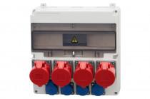Rozdzielnica LAGO 3x16A 5p, 32A 5p, 4x230V  /17 modułów/