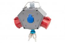 Rozdzielnia POLYBOX Gniazda 16A 5p, 32A 5p, 230V + 3xAIR(powietrze)