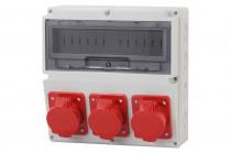 Rozdzielnica LAGO 16A 5p, 2x32A 5p  /14 modułów/