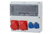 Rozdzielnica LAGO 16A 5p, 32A 5p, 2x230V  /14 modułów/