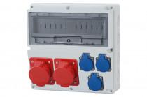 Rozdzielnica LAGO 16A 5p, 32A 5p, 3x230V  /14 modułów/