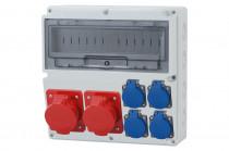 Rozdzielnica LAGO 16A 5p, 32A 5p, 4x230V  /14 modułów/