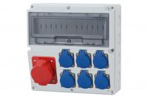 Rozdzielnica LAGO 32A 5p, 6x230V  /14 modułów/