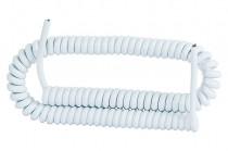 Спиральный провод 05VVH8-F 3x1,00 белый – 5м