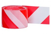 Фольга предупреждающая бело-красная