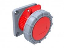 Gniazdo siłowe tablicowe proste 16A 5p /FE/ IP67