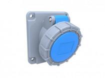 Gniazdo przemysłowe tablicowe skośne 16A 3p /FE/ IP67