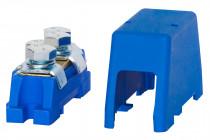 Zacisk ochronny 2x35mm2 - niebieski + osłona