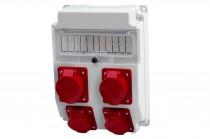 Rozdzielnia CAJA 2x16A 5p, 2x32A 5p /11 modułów/