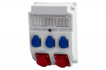 Rozdzielnia CAJA 16A 5p, 32A 5p, 3x230V /11 modułów/