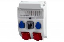 Rozdzielnia CAJA 16A 5p, 32A 5p, 2x230V, L/P /11 modułów/